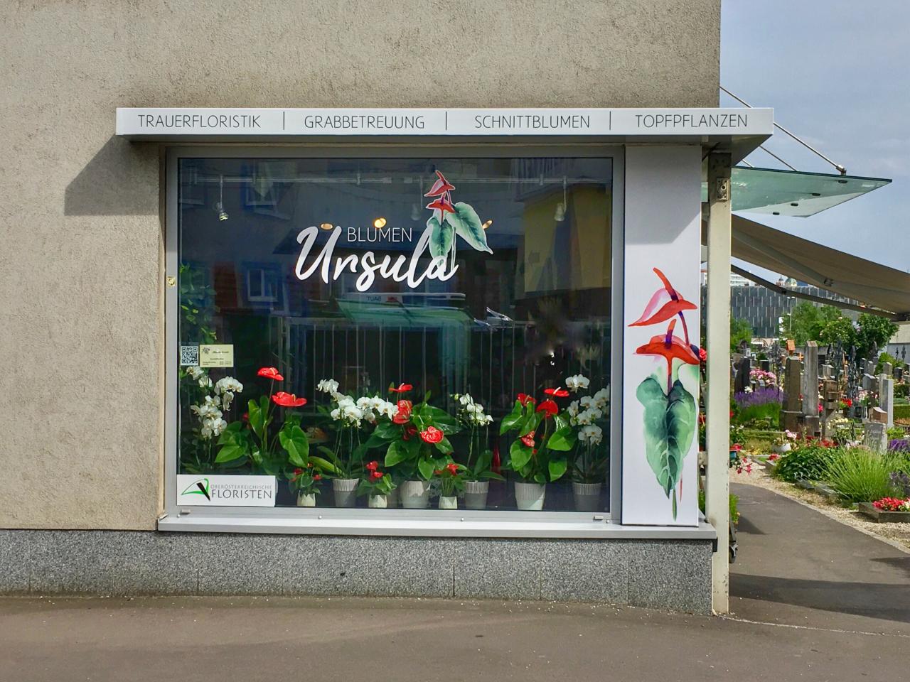 Blumengeschäft Blumen Ursula von vorne